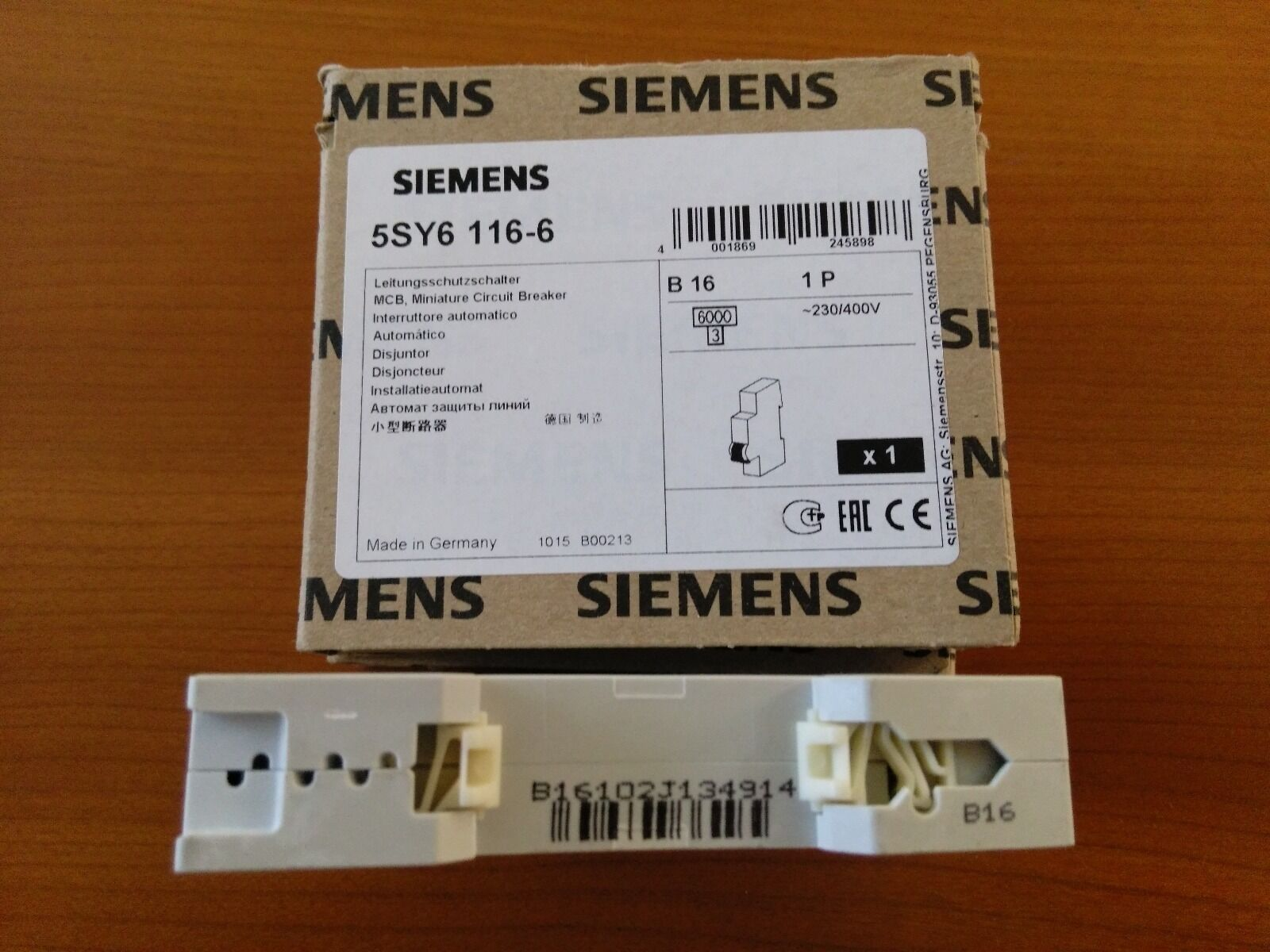 Lot Of 2 Siemens Circuit Breaker 5sy6 116 6 1 Pole 16 Amp 5sy6116 Details About 5sx21 C5 230 400v 5 4 See More