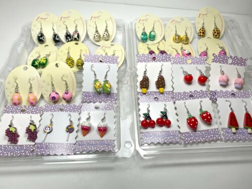Wholesale Earrings Dangle Rabbit Star Flower Animal Print Cross Flower 40 pairs