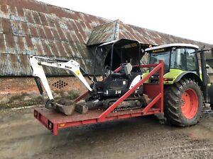 Tractor Trailer Low Loader Mini Digger Excavator Transport Box John Deere Claas
