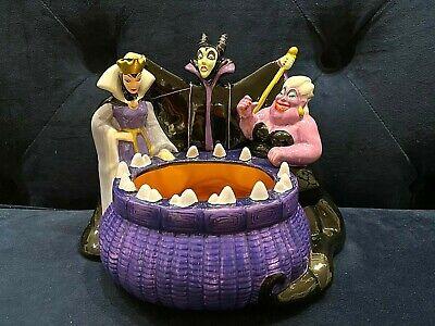 Disney - Villains Ceramic Cauldron Candy Bowl - Witch, Ursula & Maleficent - New