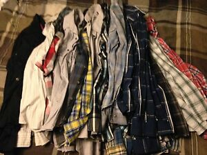 Men's button-up shirts, Calvin Klein, Le Chateau, AE, Gap, etc
