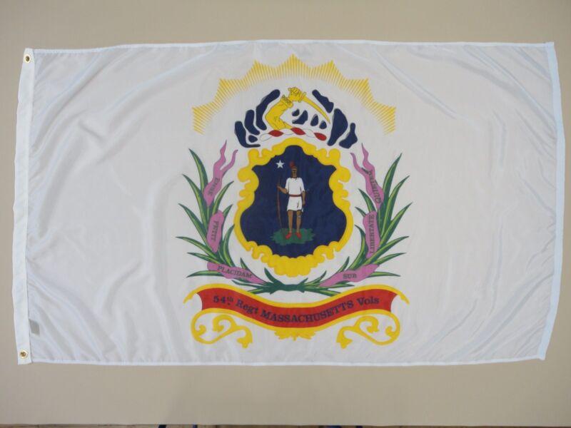 54th Massachusetts Inf Reg Indoor Outdoor Historical Dyed Nylon Flag 3