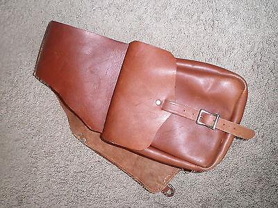 Leather saddle bags used western saddle Eubanks Leather stamped