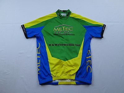 V-Gear Mens Metec Housing Resource M&M Vineyard Medium Bike Tour Cycling Jersey