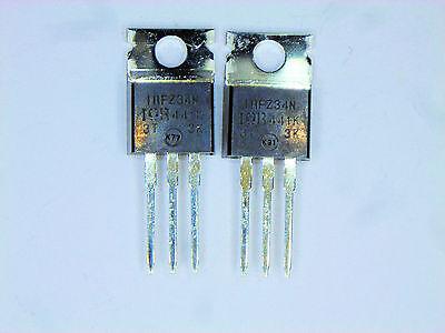 Irfz34n Original Ir Mosfet Transistor 2 Pcs
