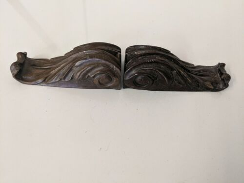 Pair of Victorian Hand Carved Corbels