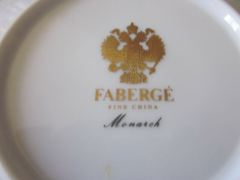 """Faberge """"Monarch"""" Fine China Cup and Saucer"""