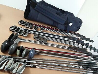 GOLF CLUBS MIXED Joblot Wilson X King Cobra hippo and others with Bag
