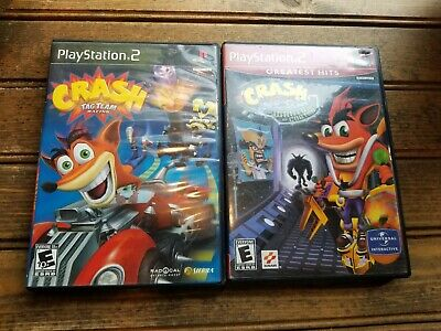 Crash Bandicoot: The Wrath of Cortex & Tag Team Racing (PlayStation 2) Combo ()