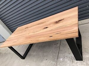 Aus Made Solid Wormy Chestnut Hardwood Timber Mosman Dining table Minto Campbelltown Area Preview