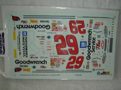 #29 KEVIN HARVICK 2001 GOODWRENCH SERVICE PLUS NASCAR SLIXX Decal Set