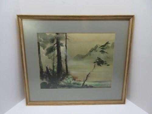 Disney Artist Tyrus Wong Vintage Halftone Lighogravure Imaginary Landscape No. 1