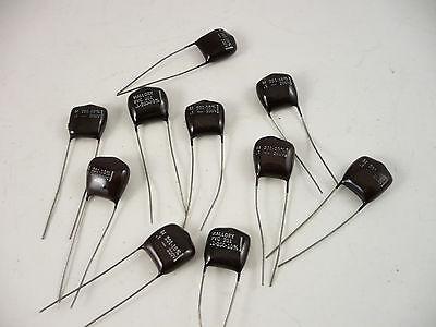 Lot Of 10 --mallory M 201-10 200v Film Capacitors