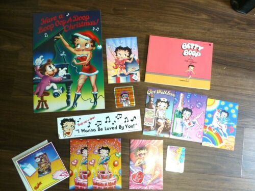 Betty Boop Lot Stickers, Cards, Bumper Sticker, Book, NEW