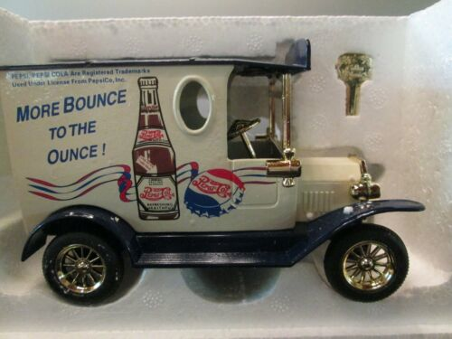 "PEPSI COLA GOLDEN WHEEL ""MORE BOUNCE TO THE OUNCE"" DIECAST TRUCK COIN BANK"