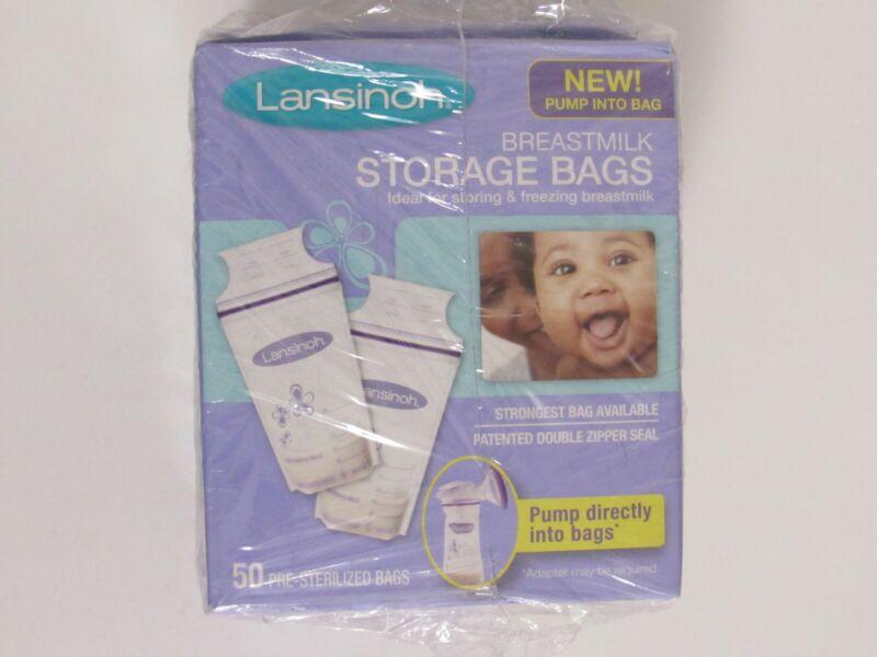 Lansinoh Pre-Sterilized Breastmilk Freezer Storage Bags - 50 Bags