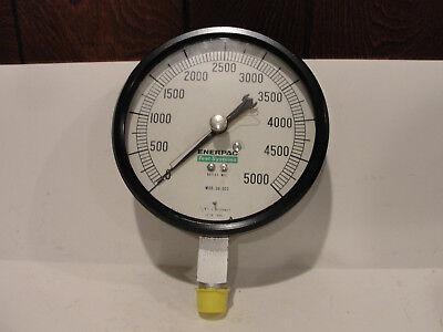 Enerpac Mod. 30-002 Pressure Gauge 0-5000 Psi Bottom Mount 5-12 Dia. Face