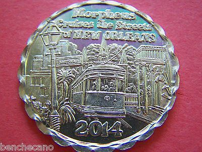 2014 MORPHEUS CRUISES THE STREETS OF NEW ORLEANS Aluminum Mardi Gras Doubloon