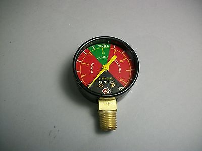Grinnell 5380 Fire Protection 600 Psi Tricolor Gage - New