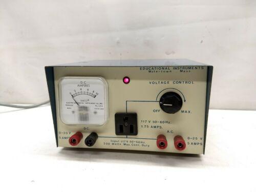 Educational Instruments AC / DC Power Supply 300W, 0-25V
