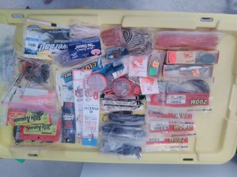 Various Fishing Lures, Worms, Weights, Hooks And Others Tackle Lot #2