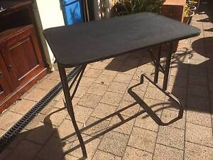 Small Metal Trestle Table with Rubber Top Beckenham Gosnells Area Preview