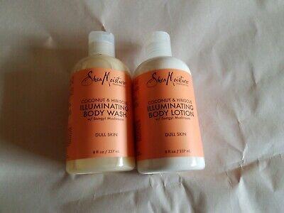 Shea Moisture Coconut & Hibiscus Illuminating 8oz Body Wash And 8oz Lotion
