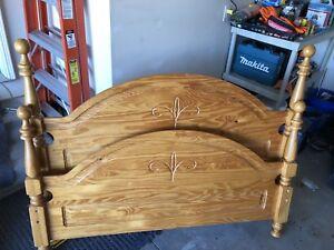 Double Pine Bedroom Set