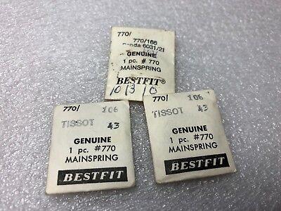 Lot x 3 TISSOT 770 watch Mainsprings (170)