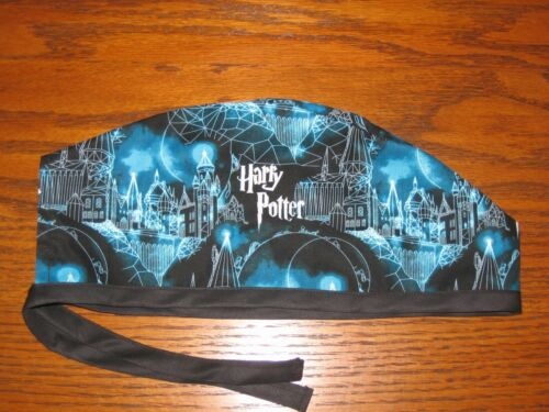Surgical Scrub Hats/Cap Harry Potter  Midnight at the Hogwarts castle