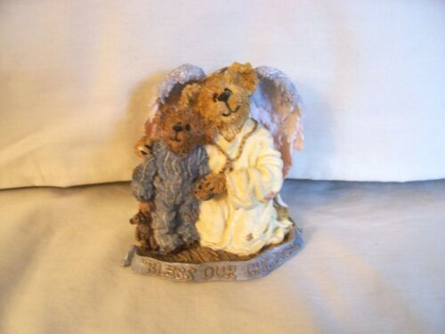 Boyds Hope Angelwish & Everychild Bless Our Children Angel W/ Child Bear Resin
