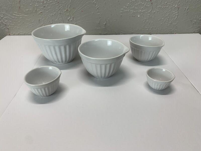 White Measuring Cup bowl  Set  5 piece