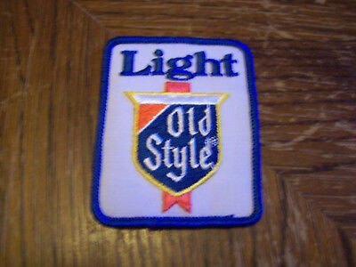 VINTAGE LIGHT OLD STYLE BEER PATCH   (PUT ON )  SHIRT  HAT