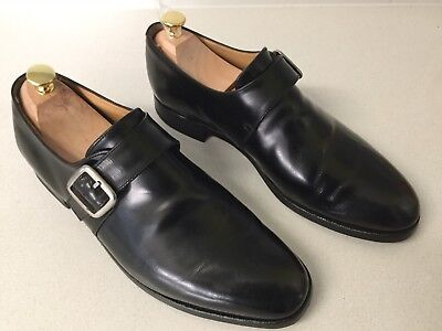 Alfred Sargent English Eden Monk Balck Leather Shoes UK 9.5F 847 6134 (Eden Shoes Uk)