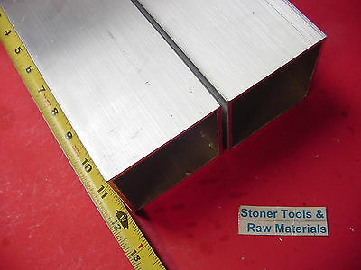 2 Pieces 3x 3x 18 Wall X 12 Long Aluminum Square Tube 6063 T52 3sq X .125