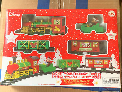 DISNEY Mickey Mouse Holiday Express Christmas Train Set - SHIPS FAST