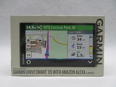 "Garmin DriveSmart 65 Automotive Mountable GPS Navigator w/ Amazon Alexa - 6.95"""