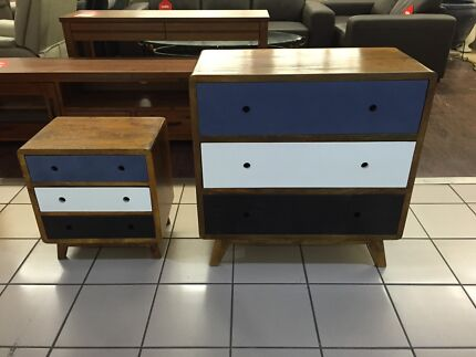 (NEW) WOODEN RETRO PAINTED DRESSER (BEDSIDE TABLE ALSO AVAILABLE) Eagleby Logan Area Preview