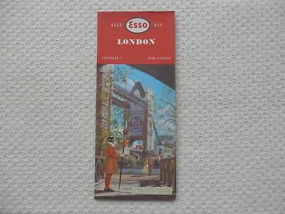 ESSO Road Map of LONDON number 1 dated 1959 new old stock