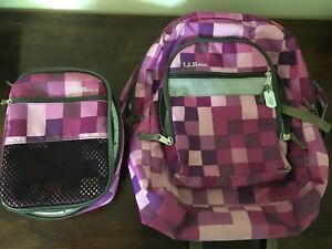 LL Bean Bookbag and Lunchbox