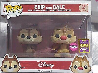 Funko Pop! Vinyl Figure - Disney - Chip and Dale (2 pack) Flocked Exclusuve