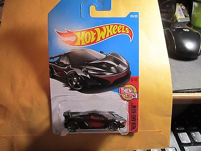 McLaren P1 #363 * BLACK * 2017 Hot Wheels Case Q
