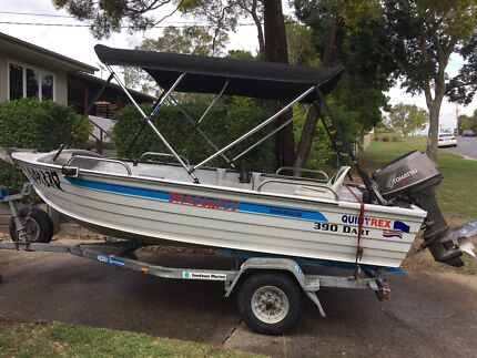 Quintrex 390 Dart and trailer