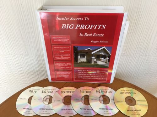 Insider Secrets To Big Profits In Real Estate By Reggie Brooks - MANUAL & 6 CDS!