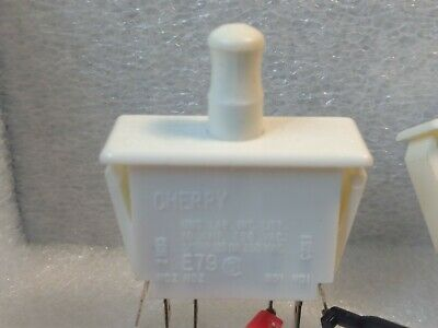 Cherry Pullpush Button Switch Dpdt 10a 125v 250 Vac Refrigerator Door Type