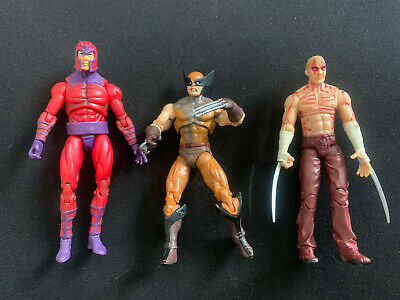 MARVEL UNIVERSE CLASSIC WOLVERINE DEADPOOL & MAGNETO 3.75 INCH HASBRO FIGURE LOT