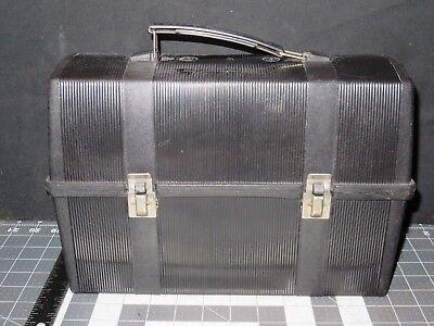 Vintage Black Plastic Aladdin Lunch Box Nashville TN USA