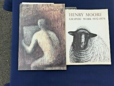 2 RARE BOOKS ON HENRY MOORE'S GRAPHIC DESIGNS.. EARLY AND RARE CATALOGS