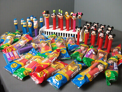 57 Pez Candy Dispensers Disney Scrouge Gyro Mickey Minnie Goofey Pluto  40 e  bc