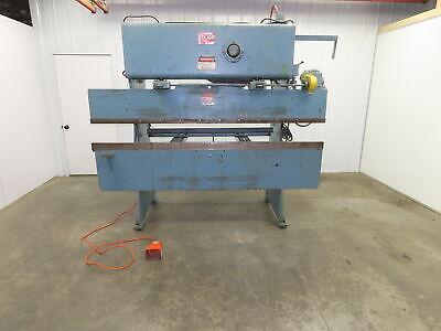 Chicago M285 8 X 25 Ton Press Brake Manual Back Gauge